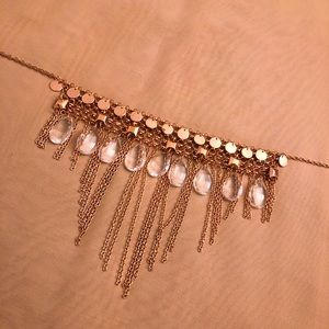 Rose Gold tone cascading necklace